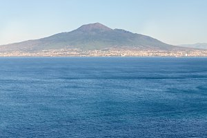 Naples coast and Mount Vesuvius