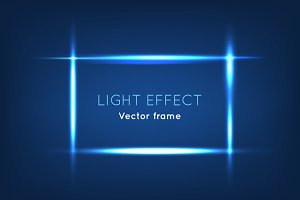 Blue Line Vector Frame