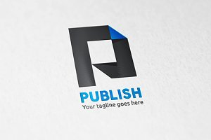 Publish Letter P Logo