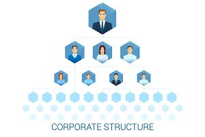 Corporate management structure.