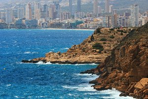 Benidorm city coast