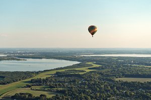 Hot Air Balloon Ride over Lake