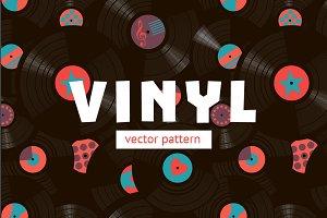 Vinyl Seamless Pattern
