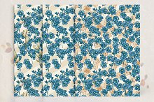 Seamless pattern Set with flowers