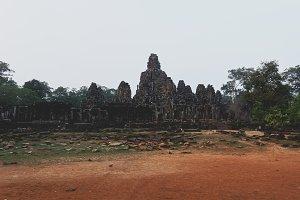 Ancient Bayon Temple in Angkor