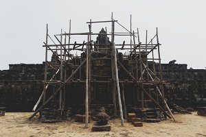 Temple Construction in Angkor