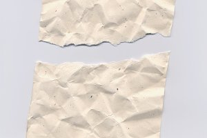 Torn rippled paper