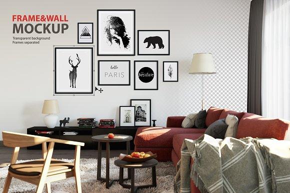 Frame & Wall Mockup 02 ~ Product Mockups ~ Creative Market