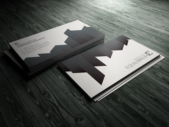 20 clean and minimal business cards that stand out creative market clean corporate business card reheart Gallery