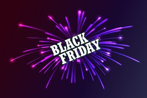 Black Friday. Fireworks discounts.
