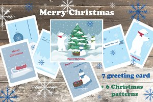 7 Christmas card  +6 patterns