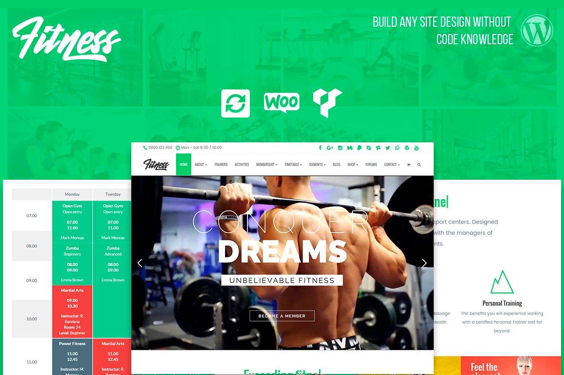 Fitness WordPress Theme ~ WordPress Business Themes ~ Creative Market