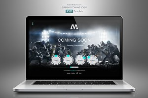 Gaming Coming Soon - PSD Template