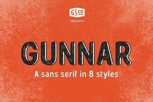 Gunnar - Sans serif with 8 styles