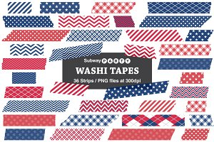 Patriotic July 4th Washi Tapes