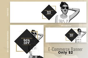 E-Commerce Social Banner only $2