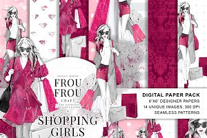 Fashion Shopping Girl Paper Pack