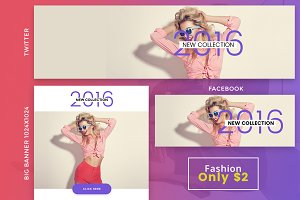 Fashion 2 Social Banner only $2