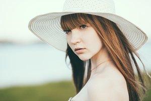 beautiful girl summer portrait
