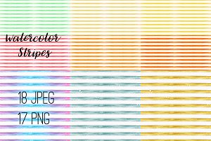 №207 Watercolor Stripes Pattern