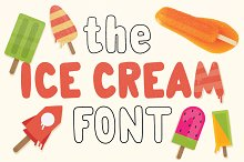 The Ice Cream Font - Yumi
