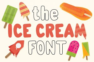 The Ice Cream Font - Yumi