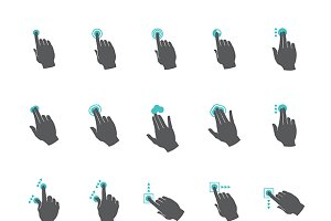 Common touchscreen iconset