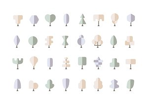 Winter trees iconset