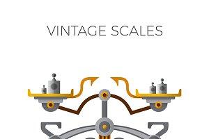 Retro balance scales