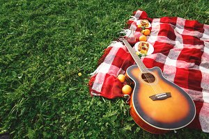 Picnic with Guitar Music