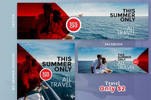 Travel Social Banner only $2