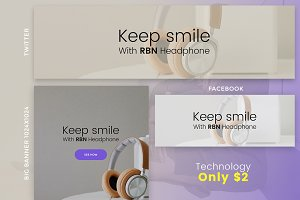 Technology Social Banner only $2