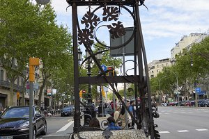 Streets and parks of Barcelona