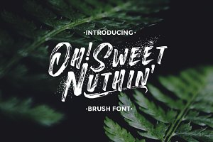 Oh!SweetNuthin' - Handcrafted Font