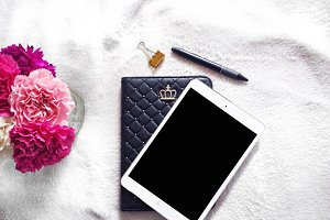 iPad & Carnations