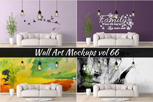 Wall Mockup - Sticker Mockup Vol 66