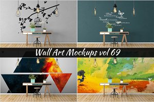 Wall Mockup - Sticker Mockup Vol 69