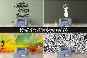 Wall Mockup - Sticker Mockup Vol 70