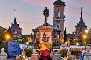 dawn in Medieval fair closed