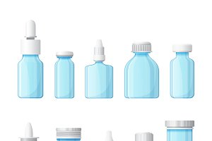 Medical bottles set