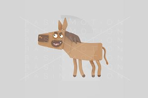 3d illustration. Brown horse.
