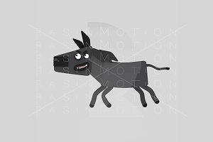 3d illustration. Black Horse.