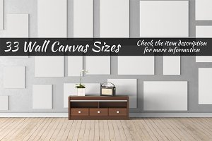 Canvas Mockups Vol 16