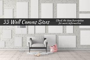 Canvas Mockups Vol 17