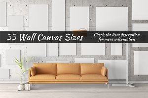 Canvas Mockups Vol 18