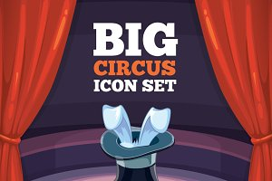 Illustration set for circus show