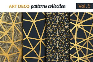 Art Deco vector patterns set 5