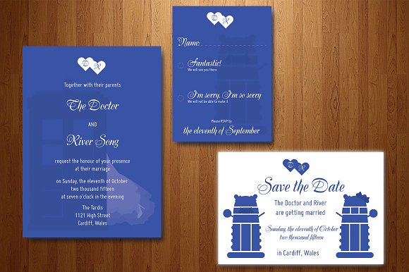 Who To Invite To Your Wedding: Doctor Who Wedding Invitation