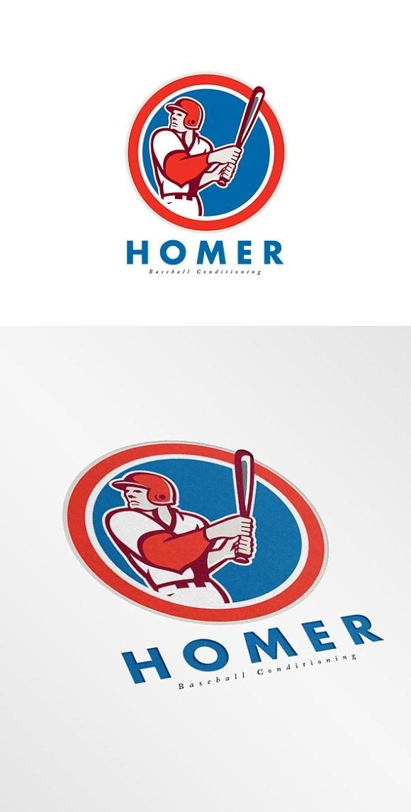 Homer Baseball Conditioning Logo