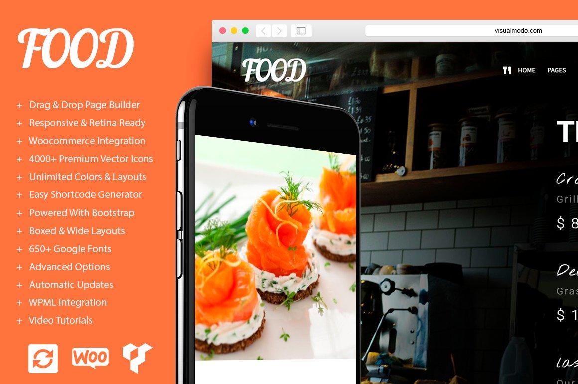 Food - Restaurant WordPress Theme ~ WordPress Business Themes